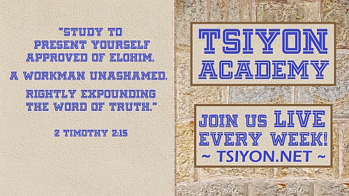 Join us for Tsiyon Academy!