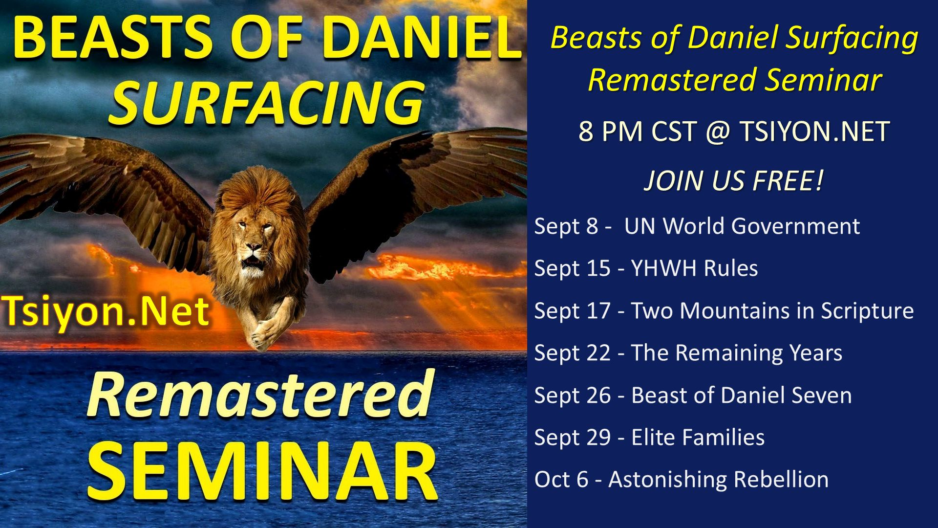 Beasts of Daniel Surfacing and schedule